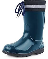s boots amazon uk ladeheid children s rubber wellington boots with top la 972
