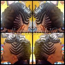 ghana cornrow braid mohawk with twists using xpressions bracing