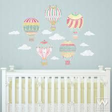 Nursery Wall Mural Decals Air Balloons Removable Wall Decals Removable Wall Decals