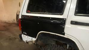 jeep body armor rock hard series rear body armor with rub rail jeep cherokee xj