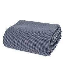 jet de canap coton jeté de canapé gris jet de canap couvre lit gris 100 coton plaid