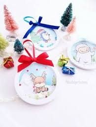 shaker ornaments white rabbit and birdie winter