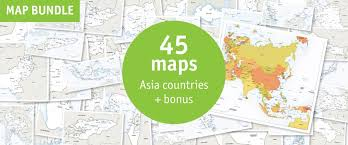 vector map of asia continent political one stop map