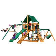 outdoors wood playground sets gorilla playsets outdoor wood