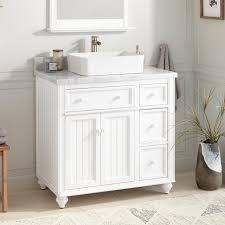 36 vessel sink vanity 36 cottage retreat vessel sink vanity white bathroom