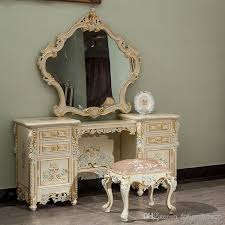 french style dressing table cheap classic french style furniture handwork gilding golden foil royalty