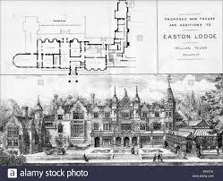 ground plan of audley end essex as originally built