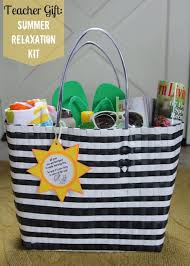 Relaxation Gift Basket Fun In The Sun Summer Relaxation Kit With Free Printable Teacher