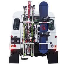 porta sci auto gringo portasci snowboard posteriore da ruota di scorta per