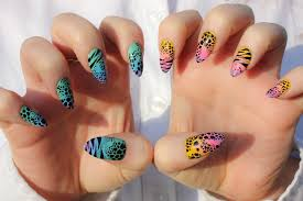 rainbow faded animal nails pictures photos and images for