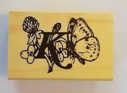 wood backed rubber st butterfly alphabet capital letter k ebay