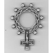 rosary rings rosary ring with crucifix