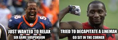 Von Miller Memes - nfl suspensions von miller antonio smith take hits off on the field
