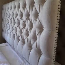 Linen Upholstered King Headboard Bedroom Traditional Bedroom With Nightstand And Linen Upholstered