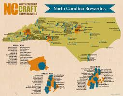Charlotte Usa Map by North Carolina U0027s Craft Breweries North Carolina Craft Brewers Guild