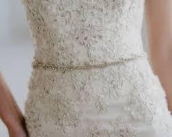 wedding dress sash thin bridal sash etsy