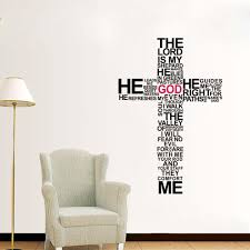 Mural Stickers For Walls Typography Christian God Cross Wall Art Sticker Decal Jesus Christ