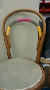 bentwood chair enhanced with wound thread and painted seat