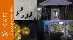 easy halloween front door and house decoration ideas how to with