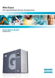 ga 30 90 ga 37 90 vsd atlas copco compressors usa pdf