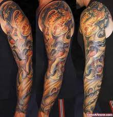 awesome color tribal tattoos on left arm tattoo viewer com
