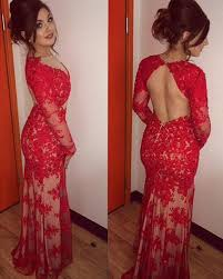 popular long red mermaid backless prom dresses buy cheap long red