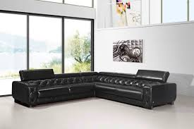 Sofa Casa Leather Casa Lyon Modern Black Italian Leather Sectional Sofa