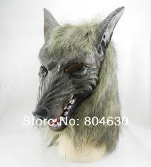 Werewolf Halloween Costume Aliexpress Buy Halloween Creepy Animal Head Grey Werewolf
