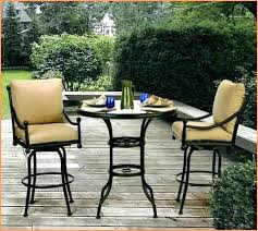 Bar Height Patio Chair Bar Height Patio Set With Swivel Chairs Image Of Bar Height Patio