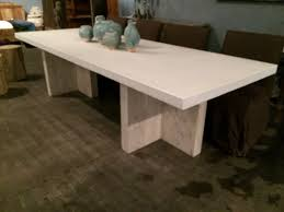 concrete dining room table long concrete and reclaimed elm dining table mecox gardens