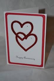 How To Make Invitation Cards At Home Handmade Anniversary Card Heart Cards Pinterest Handmade