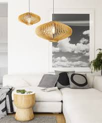 Wooden Pendant Lighting by 580mm Natural Wooden Pendant