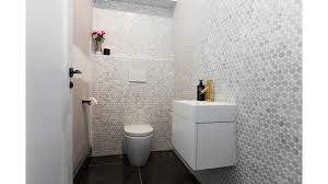 Powder Room Floor Tile Ideas Julia And Sasha U0027s Powder Room The Block Pinterest Powder