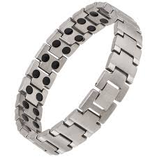 bracelet magnetic images Earth therapy pure titanium magnetic therapy bracelet png