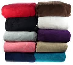 Fleece Throws For Sofas Luxury Soft Cosy Coral Fleece Throw Over Bed Sofa Home Fleecy