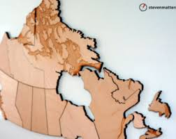 map of canada puzzle design digital fabrication craft by stevenmatterndesign on etsy
