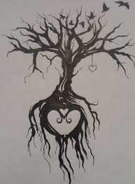 shape in roots of tree of design