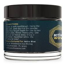 amazon com active wow teeth whitening charcoal powder natural