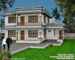 flat roof house in 2567 square feet kerala home design and floor