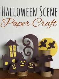 Elementary Halloween Crafts by Halloween Scene Toilet Paper Tube Paper Craft