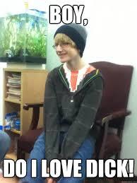 Gay Love Memes - has blonde hair gets blonde highlights gay kid quickmeme
