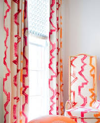 Pink And Orange Curtains Fabric For Interior Design Cool Tammaro Fabrics With Fabric For