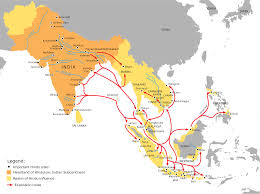 hinduism map historical spread of hinduism in 1280 x 956 map