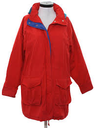 retro 80 s jacket 80s unreadable label womens red polyester