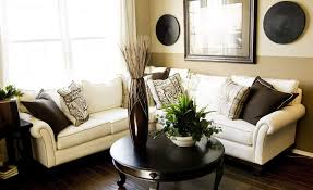 Traditional Decorating Ideas For Small Living Rooms Living Room Cozy Brown Fabric Sectional Sofa Nice Ottoman Nice
