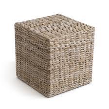 pouf bout de canapé touche végétale pour la maison le pouf cubique inqaluit se