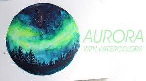 aurora watercolor youtube