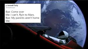 Meme Space - after spacex sent a car into space twitter started launching