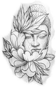 Buddhist Flower Tattoo - but with a lion beauitful tattoos pinterest lions tattoo
