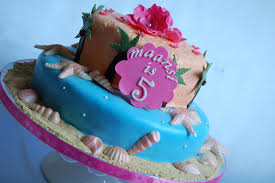 Tropical Themed Cake - customised cakes by jen hawaiian birthday cake